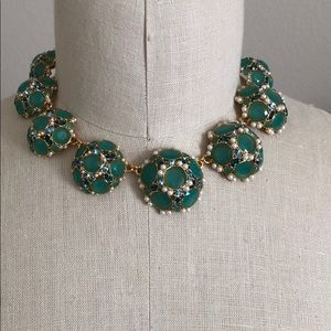 Kate Spade green statement necklace